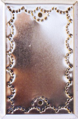 Tin Single Switchplate - Fine Crafts Imports Single Cover Silver Tin Switchplate