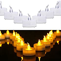 Homemory 100PCS Battery Operated Flickering Flamel
