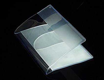 5 Pack ALL in ONE Clear Plastic Passport Holder Protector with Card Covers