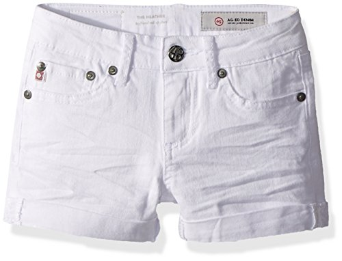 AG Kids Adriano Goldschmied Big Girls' The HTH Roll Short, White, 10 by AG Adriano Goldschmied