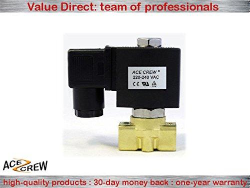 1//4 inch NORMALLY OPEN 220V-240V AC Brass Solenoid Valve NPT ONE-YEAR WARRANTY
