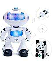 LKKLILY Intelligent & Charismatic Dancing Remote Control Robot with Music and Lights for Children, Disco & Cheering RC Robot , Robots for Kids |fortnite gifts,|gifts (Blue)