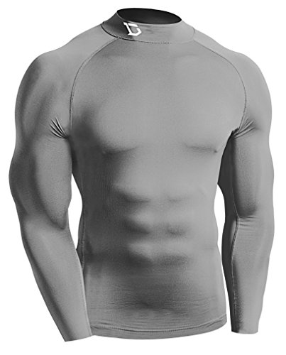 Discount Defender New Men' Coldgear Compression Mock Shirts Underwear Running GY_XL