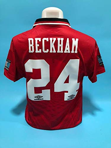 9db7ba2a141 Amazon.com   Retro David Beckham Manchester United Soccer Jersey ...