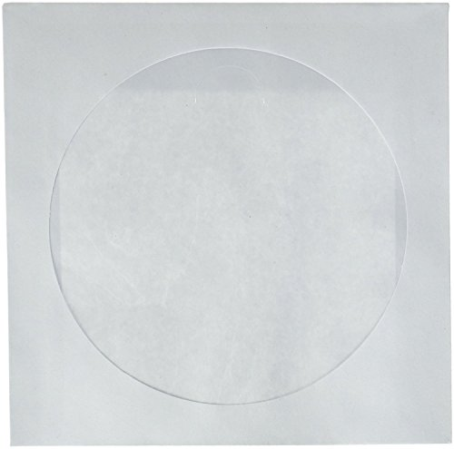 3 x CD DVD White Paper Sleeves with Clear Window 1000 Pack