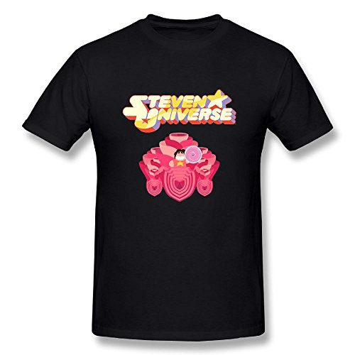 Danielle Men's Steven Universe Heraldic Shield Tshirt Black M ()
