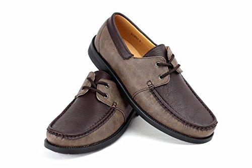 34 Sin Talla Mocasines Café 40 Cordones Hombre Nuevo marrón Estilo Conducción Mocasin Eu Informal Zapatos Náuticos 5vR7zqU