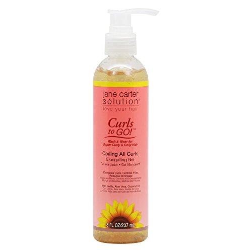 Jane Cosmetics Carter Curls To Go Coiling Elongating Gel, 8 oz./237 mL