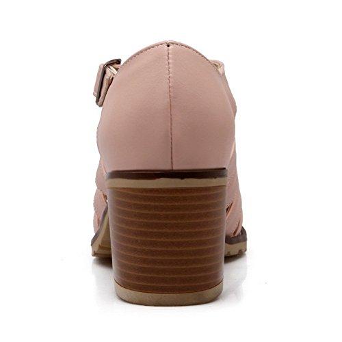 Balamasa Dames Hol Gespen Nagebootst Lederen Pumps-schoenen Roze