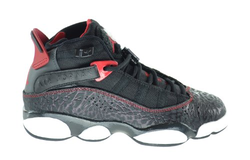 57b64fd2f798e3 Jordan 6 Rings (GS) Big Kids Basketball Shoes Black White-Gym Red-Anthracite  323419-020 (5.5 M US) - Buy Online in UAE.