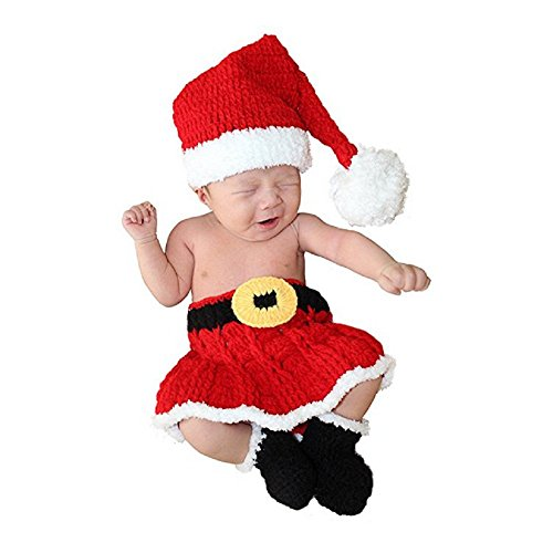 Baby Girl Iron Man Costume (Oliviabeauty Infant Newborn Baby Girl Boy Cute Knit Hat Costume Photography Prop Outfit Set (Red-iron Man))