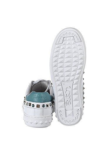 Ash Dames Play02 Witte Lederen Sneakers
