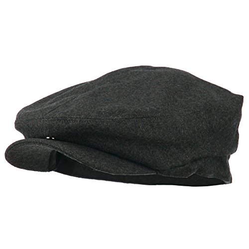 (e4Hats.com Big Men's Wool Blend Ivy Cap - Charcoal XL-2XL)