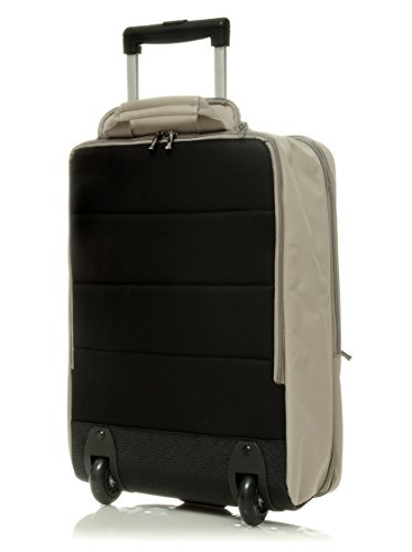 """MH WAY - PN25E, 17"""" pc and tablet backpack and trolley- line PRONTO, ecru"""