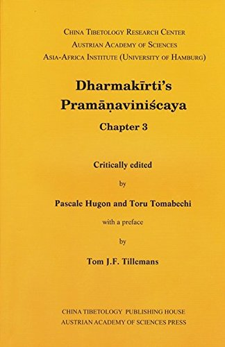 Dharmakirti's Pramanaviniscaya Chapter 3 (Sanskrit Texts from the Tibetan Autonomous Region)