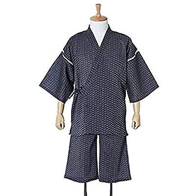 Japanese Traditional Clothing Jinbei Men's Kimono Sijiraori Cotton 100%? Navy