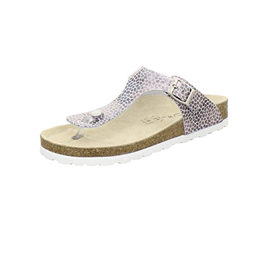 AFS-Schuhe 2107, Modische Damen-Sandale, Hochwertiges, Echtes Leder, Made in Germany Leopard