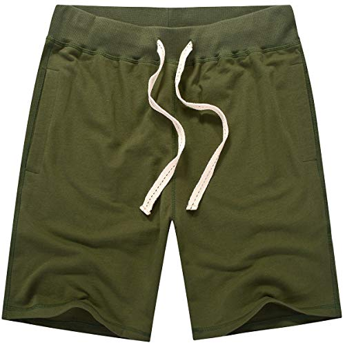 Amy Coulee Men's Casual Classic Short (L, Army Green)