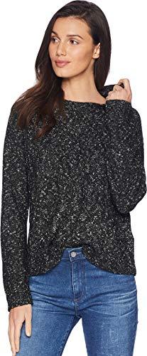 RVCA Junior's SKNITTY Crop Sweater, Black, XS
