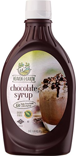 Heaven & Earth, Dairy Free, Chocolate Syrup, 24oz (2 Pack) No High Fructose Corn Syrup