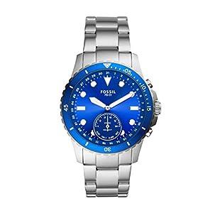 Fossil Fb-01 Hybrid Smartwatch Analog Blue Dial Men's Watch-FTW1198