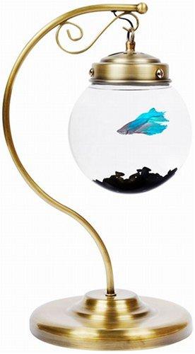 AquaBetta Suspended Aquarium Desk Lamp, Antique Ornate Bronze - Current USA