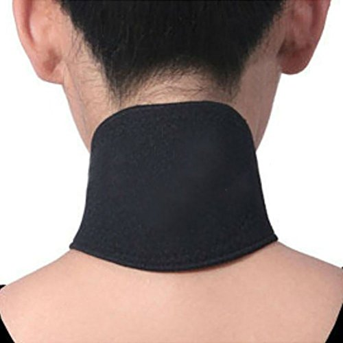 (Deserve to Buy Magnetic Therapy Thermal Self-Heating Neck Pad Belt (Black) (Color : Black, Size : 44x12cm))