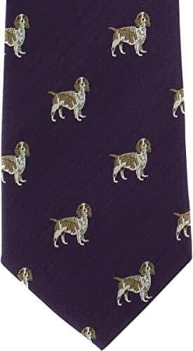 Purple Beagle Silk Tie by Michelsons of London