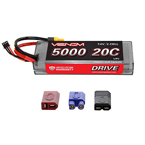 Venom Group International 1555 20C 2S 5000mAh 7.4V LiPo Hard Case with Universal