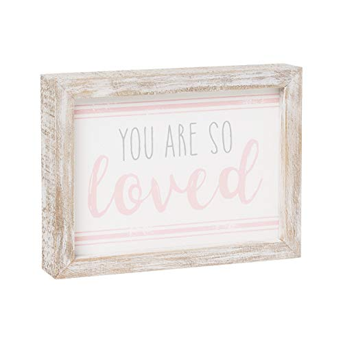 Collins Painting Distressed Wood-Framed Block Sign for Children's Decor (You are So Loved) ()