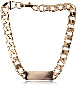 """nOir Jewelry """"Tapers and Spikes"""" Rose Gold Chain ID Necklace"""