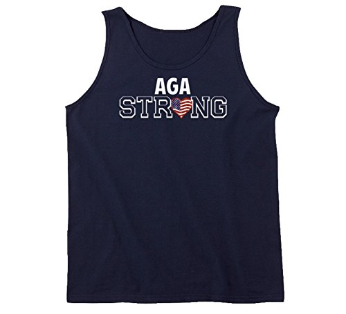 T Shirt Warrior Aga Strong Last Name American Tanktop XL Navy