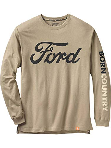 Price comparison product image Legendary Whitetails Men's Born Country Ford Long Sleeve T-Shirt Ford X-Large