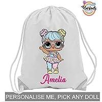 lol suprise personalised pe bag, drawstring bag, school bag, lol dolls, lol, lol surprise dolls