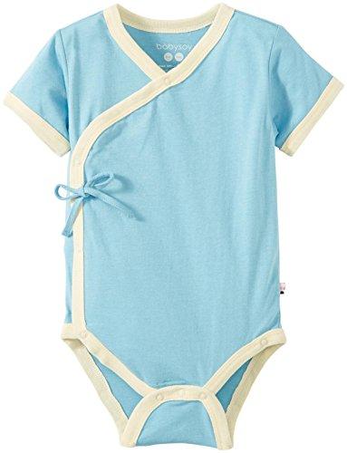Babysoy Baby Boys' Kimono Bodysuit (Baby) - Ocean - 12-18M