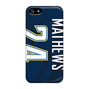 Iphone 5/5s Case Cover - Slim Fit Tpu Protector Shock Absorbent Case (san Diego Chargers)