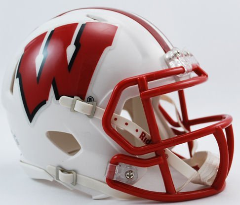 NCAA Wisconsin Badgers Speed Mini Helmet (Badgers Team Wisconsin Helmet)
