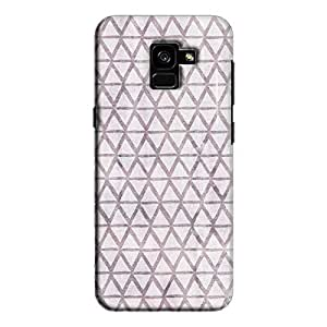 Cover It Up - Triangle Print Purple Galaxy A8 Plus Hard Case