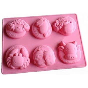 Allforhome 6 Cavities Squirrel Silicone Cake Baking Mold Cake Pan Muffin Cups Handmade Soap Moulds Biscuit Chocolate Ice Cube Tray DIY Mold