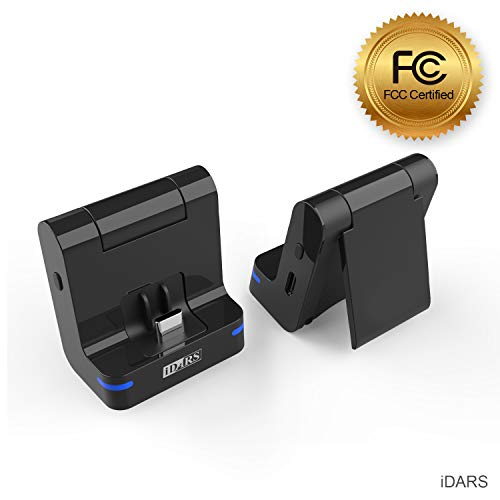 iDARS 3-in-1 Bluetooth Transmitter Audio Foldable Stand USB-C Fast Charging for Nintendo Switch to AirPods Bose Beats Jaybird JBL Sony Audio-Technica Pioneer Sennheiser Plantronics Marshall ()