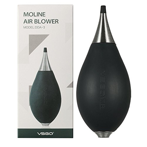 VSGO DDA-3 Moline Air Blower and Dust Blaster for Cleaning Camera Lens, Sensor, Screen and Other Electronics, Blue