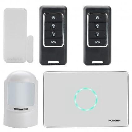 Seguridad en el hogar sistema - GSM, SMS notificaciones, Sensor PIR, puerta sin