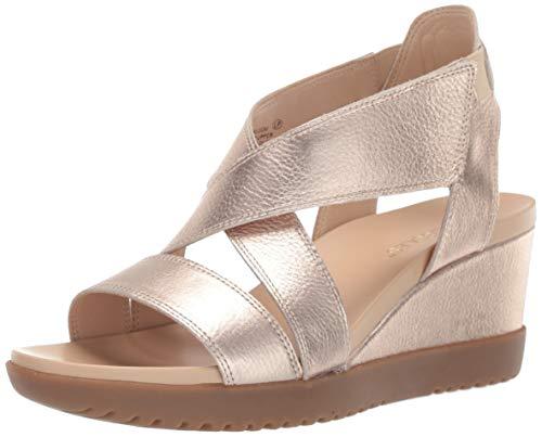 Aerosoles Women's Bloom Sandal, Gold Leather, 8.5 M US