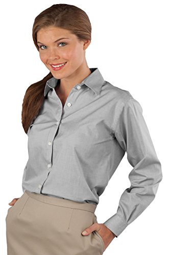 Edwards Garment Women's Long Sleeve Oxford Shirt X-Large Dark Grey