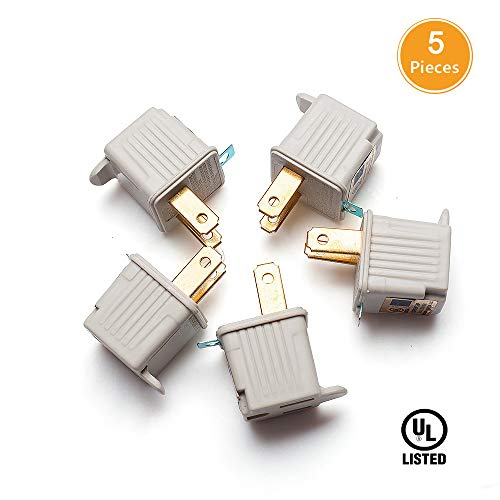 Cyberpower Adapter (TENINYU Grounded Adapter 3-Prong to 2-Prong Outlet Converter (5 Pack) - 3 Pin to 2 Pin Plug Socket Adapter Extension for Electrical Cord, Household, Workshops, Industrial, Machinery-White)