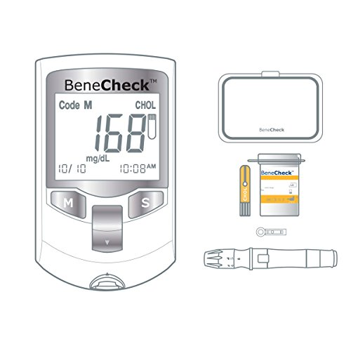 BeneCheck Plus 3in1 Cholesterol Monitor (with Case, Lancets/Pen, and 10...