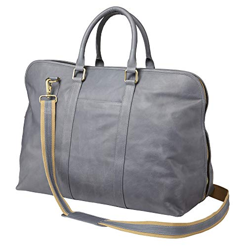 (Clava Leather Sonoma Weekend Satchel (GREY))