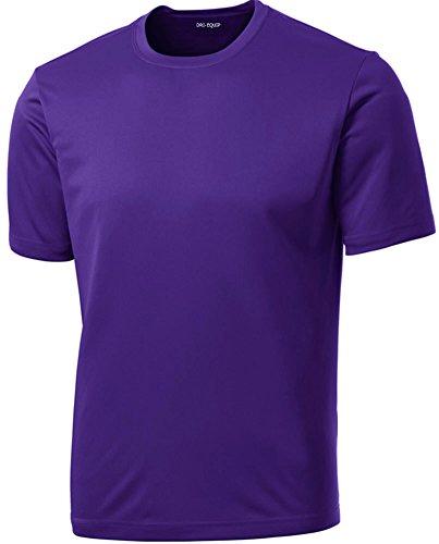 Dri-Equip Youth Athletic All Sport Training Tee Shirt,M-Purple