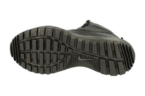 Nike Herren Colline Doppia Fusione Metà In Pelle Wanderschuhe Nero / Nero-antracite