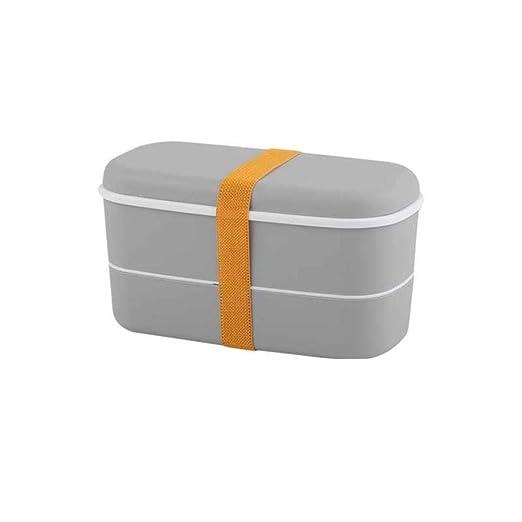 HAHAJY Caja de Almuerzo Caja Doble de Bento portátil Caja de ...